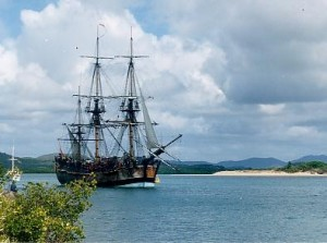 Replica of the HMS Endeavour