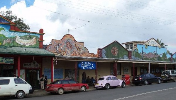 The colourful main drag of Nimbin.