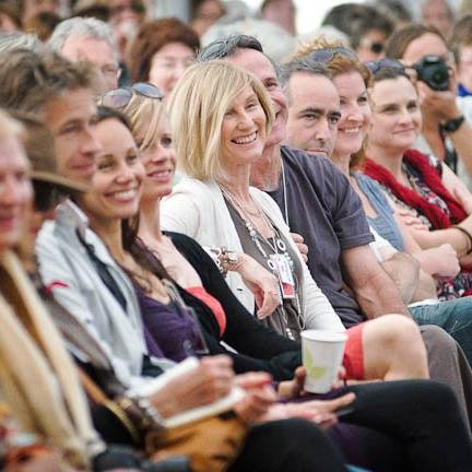 Audience enjoying Byron Bay Writers Festival