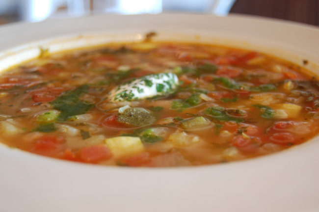 Hearty bean soup - camping meals