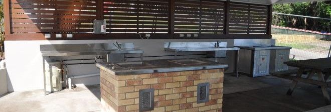 Byron Bay Caravan Park Camping Kitchen Upgrade