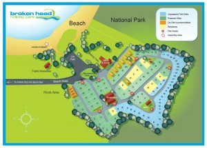 Broken Head Park Map