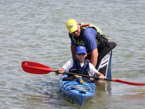 Sea Kayaking for all ages at Byron Beach
