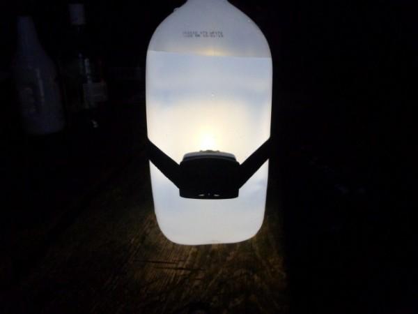 Camping hacks - campsite lantern