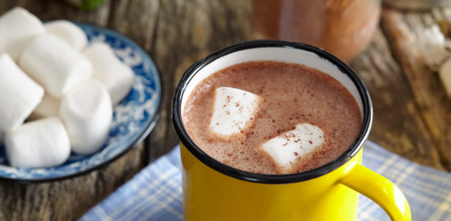 Hot chocolate - camping meals